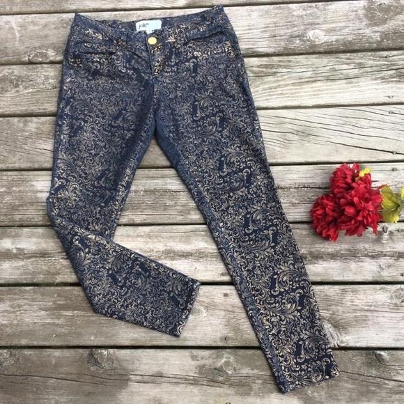 Jolt Denim - Jolt Gold Embossed Denim Jeans